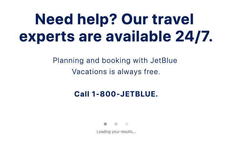 JetBlue airline cross-selling hotels - value proposition example 4
