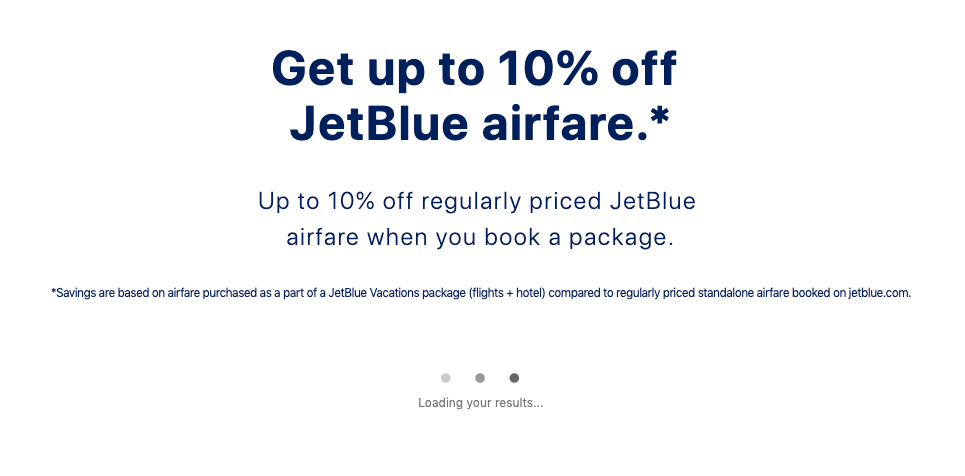 JetBlue airline cross-selling hotels - value proposition example 5