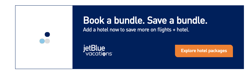 JetBlue - airline example of hotel cross-sell