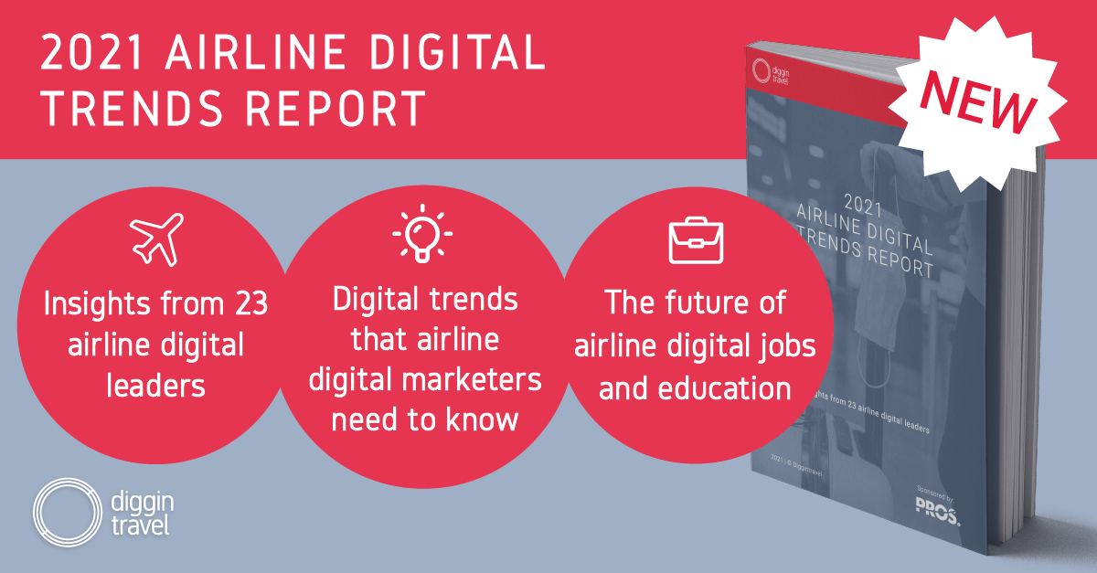 2021 Airline Digital Trends report by Diggintravel