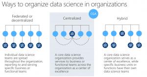 Example of Data Science Team organization models