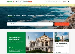 VivaAerobus new beta website